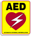 Reflective AED Decal 4 Inch